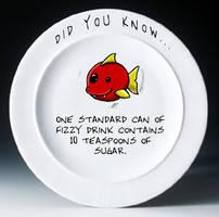 Plate Fish: Fizzy drink... by Magic-Onigiri