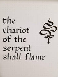 Inktober 2019 - The chariot of the serpent