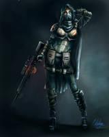 female sniper class by retroafro1