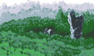 Forest Scene pixel art