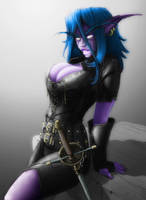 Night Elf Rogue by Malpa240