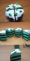 Clay charm- Mint cake