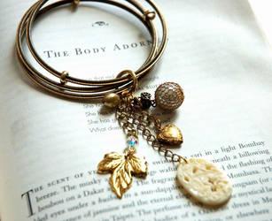 Gold Bangle Charm Bracelet by meganhor