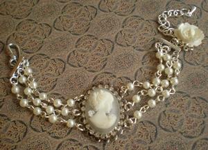 cameo bracelet by meganhor