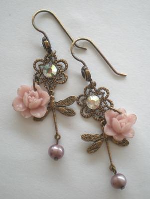 Brass earrings ...again by meganhor