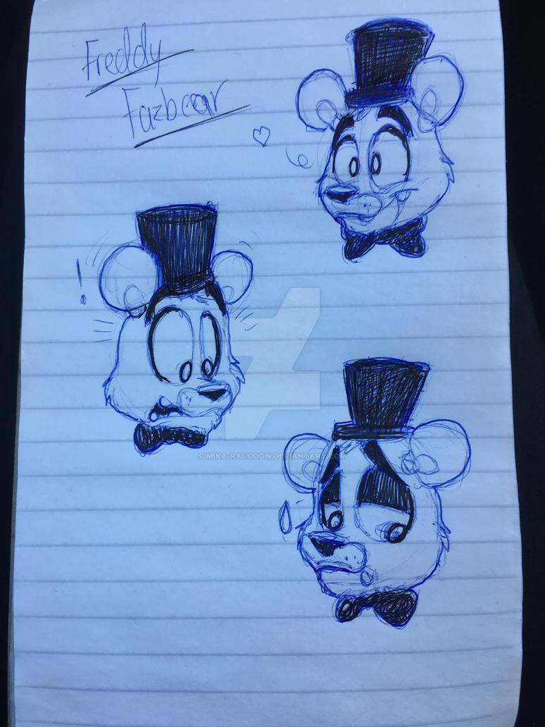 Freddy fazbear doodles by Mika-Raccoon