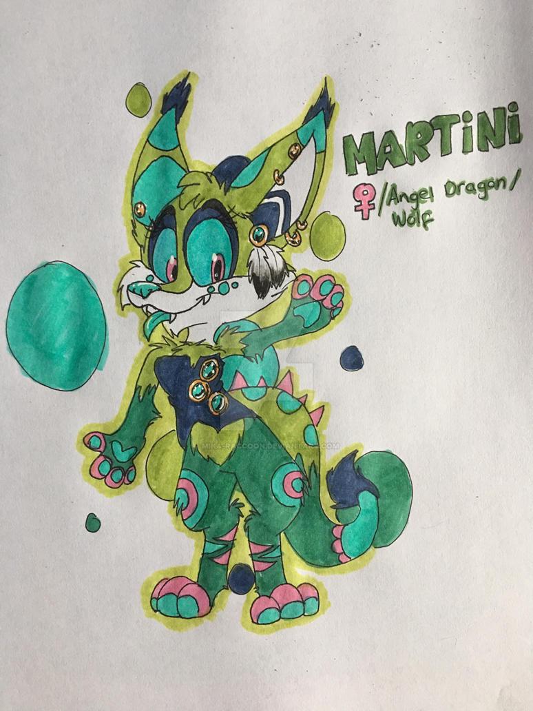 Martini the angel dragon/wolf by Mika-Raccoon
