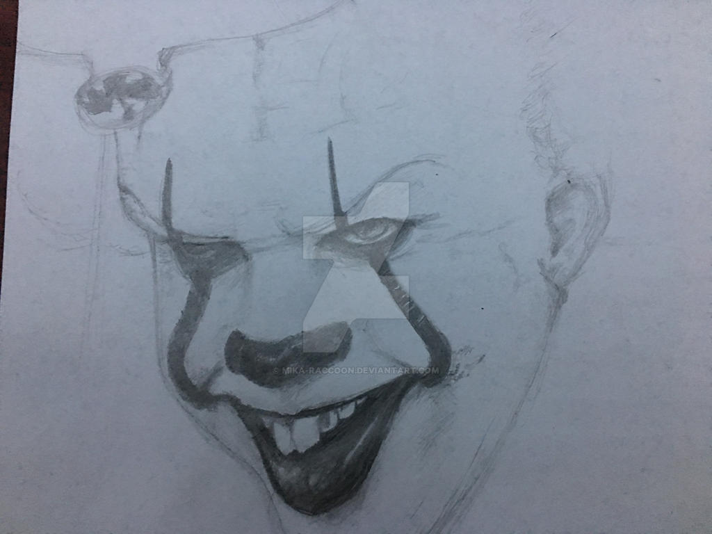 Pennywise (unfinished) by Mika-Raccoon