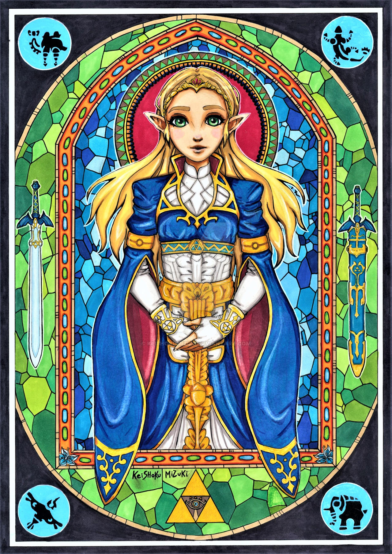 Fanart Princess Zelda Breath Of The Wild By Keishokumizuki