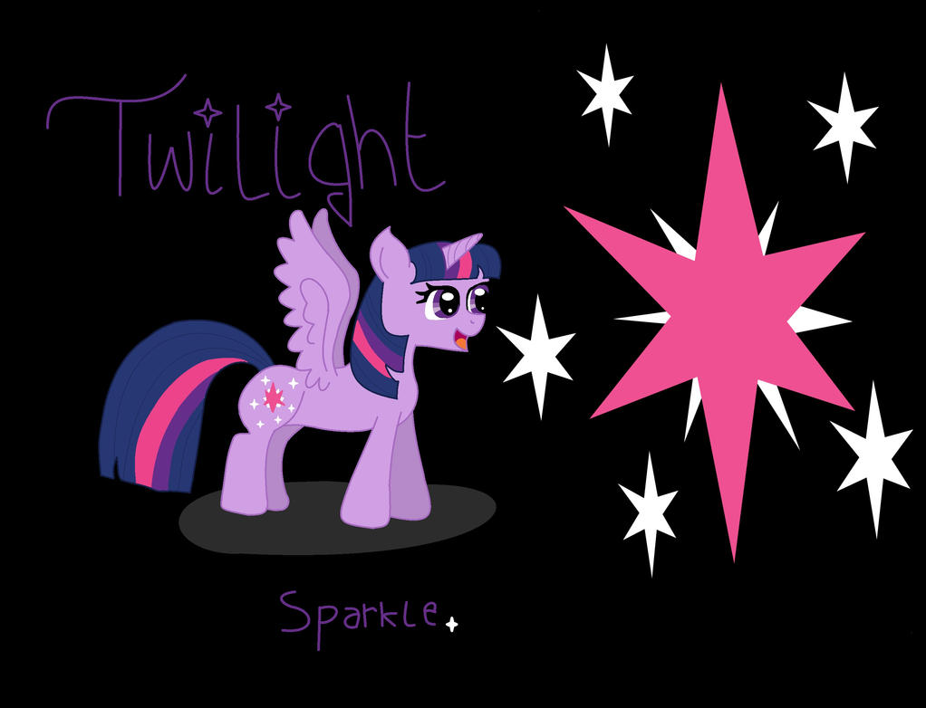 Hi, my name is twilight sparkle! by knuxouge99