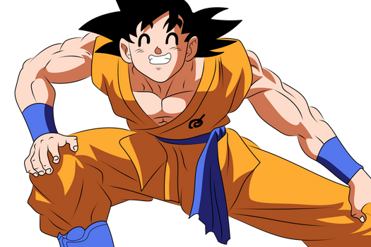 Goku ready for training