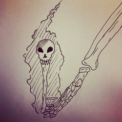 Inktober 3, Skeleton Key