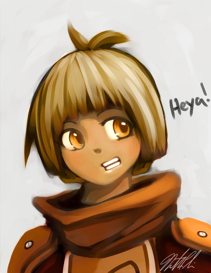 Amber says Heya by Limited-Access