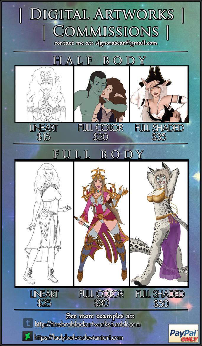 Commissions Open - New Sheet