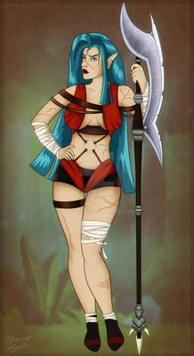 Commission: Mahuika. You have my halberd.