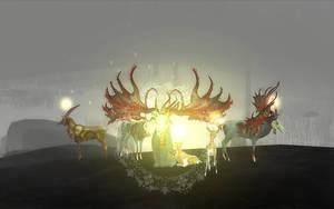 Zombie Deer and Friends by JohnyZuper