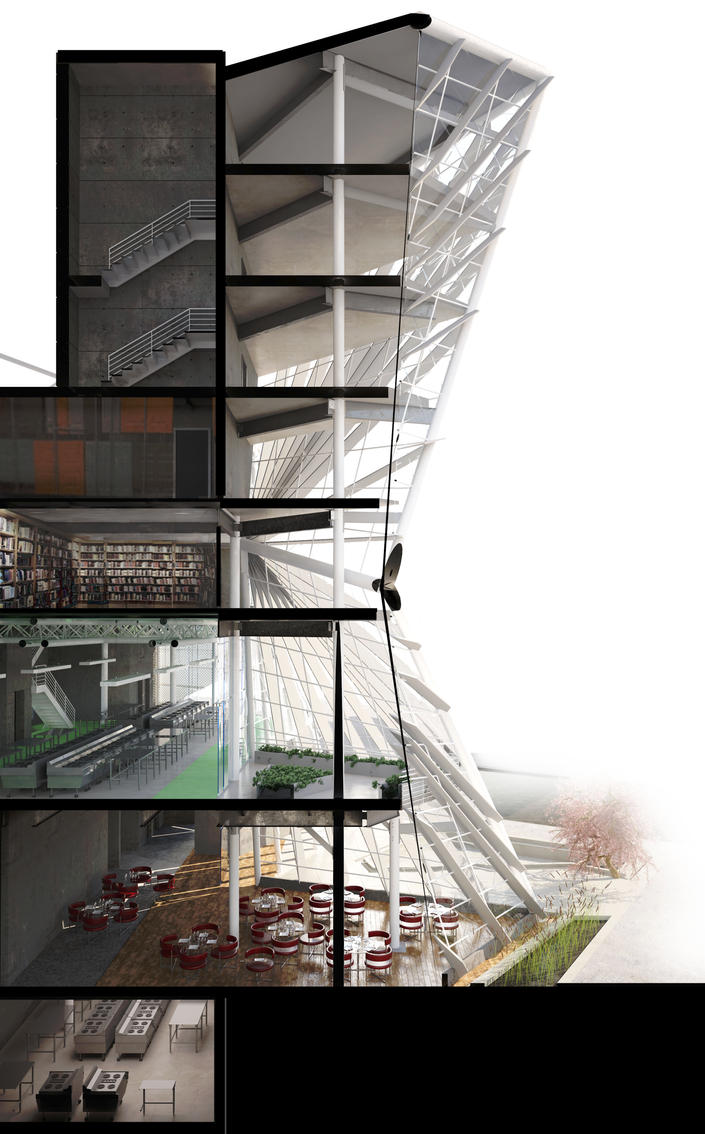 Seattle Building Section By Danio1011 On Deviantart
