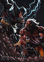 Batman X Wolverine (commission) by TonLima19
