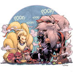 Kakashi's Ninken - COLORS by TonLima19