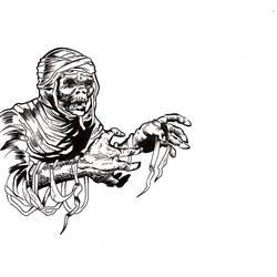 Daily drawing, Jack Davis style mummy by NefariousOrder