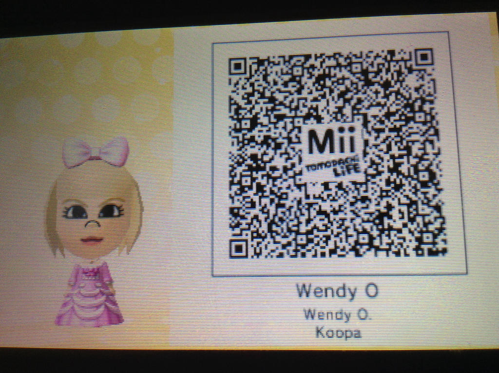 Daisy Mii Qr Code Tomodachi Life: Wendy O Koopa QR Code By TooCoolFoDis On DeviantArt