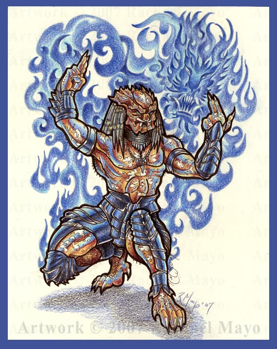 Predator: Dragon Blade color by rachaelm5