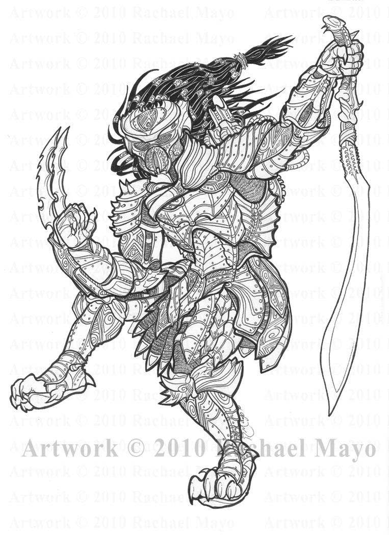 Predator: Paladin lineart by rachaelm5