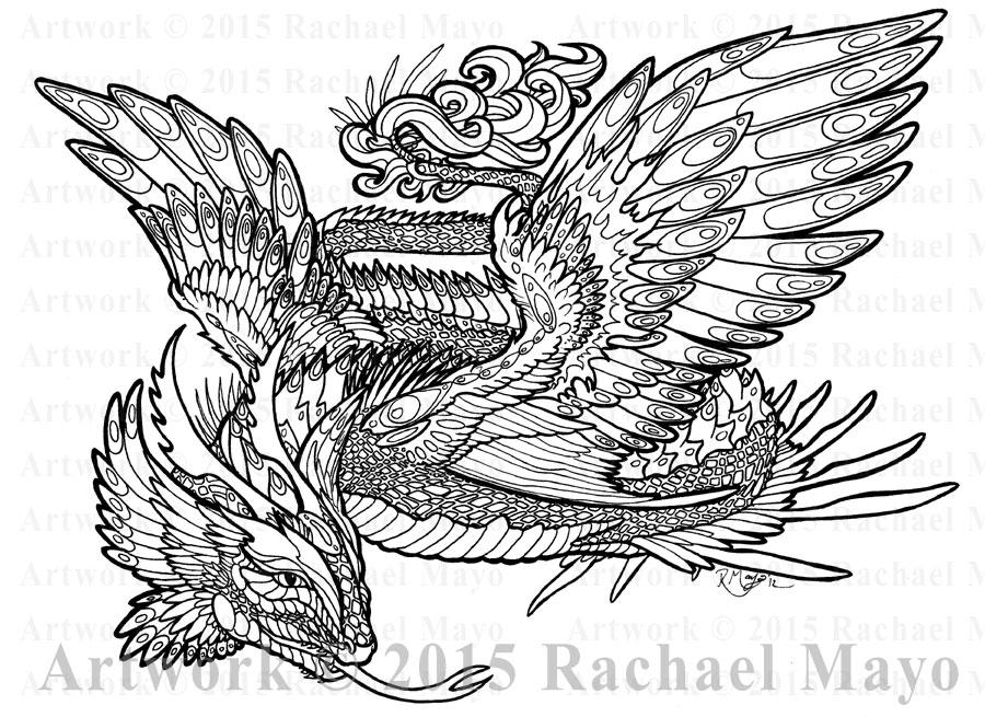 Serpent Star 06 lineart by rachaelm5