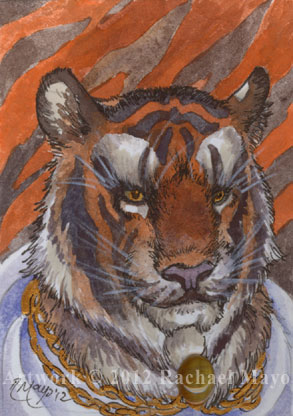 ACEO: Tiger 02 for MoonSongWolf by rachaelm5