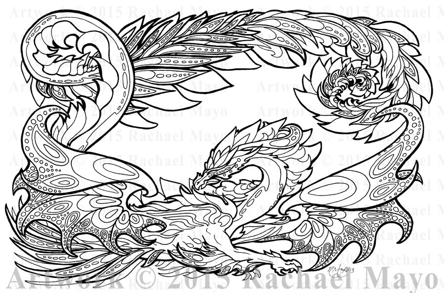Spring Exuberance Lineart by rachaelm5