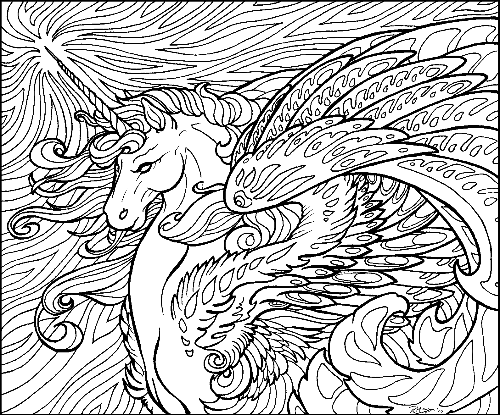 star wave unicorn lineart by rachaelm5 on deviantart
