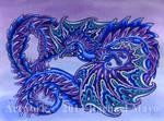 Winter Contemplation dragon design