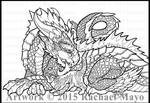 Dragon and Fluffykins lineart