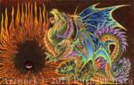 Black Sun Dragon by rachaelm5