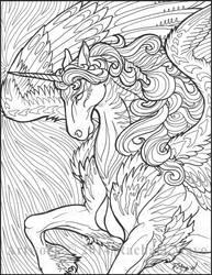 Star Wave Unicorn 02 BW