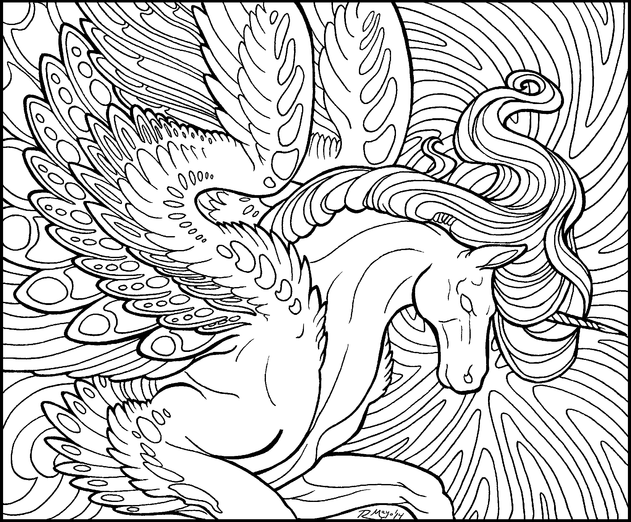 cool medium difficulty coloring pages - photo#18