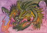 ACEO Dragon 48 by rachaelm5