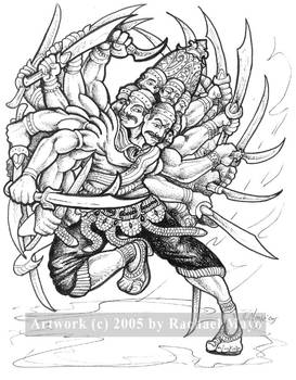 HINDU RAKSHASA - GOD, KING,    ,   , MYTHOLOGY: by usua on