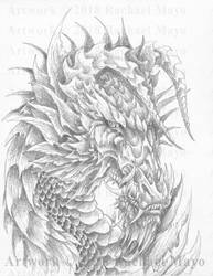 Embers of Pyre Swamp Dragon by rachaelm5