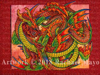 Dragon Dance 03 color by rachaelm5