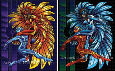 Firebird Cover Illo set by rachaelm5