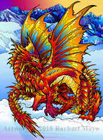 Frost Dragon cover illo by rachaelm5