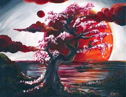 Sunset Tree from Pinot's Palette
