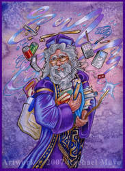 Dumbledore at a Convention by rachaelm5