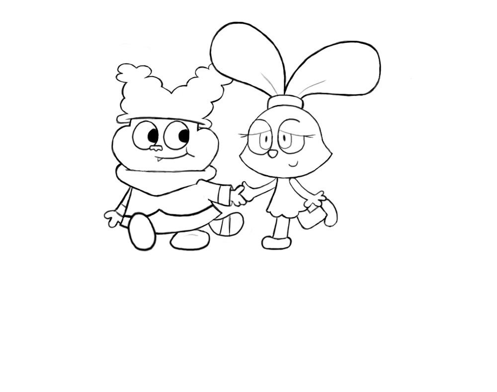 Chowderxpanini strolling along by chowder lover on deviantart for Chowder coloring pages