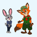 Zootopia - Young Judy and Nick