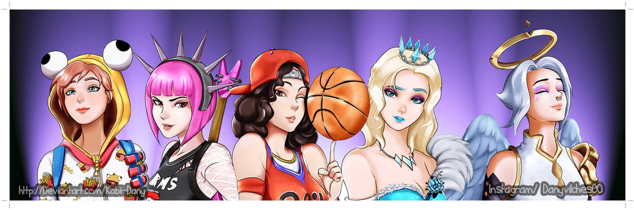 Commission Fortnite Female Skins By Kabii Dany On Deviantart
