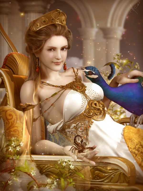 Hera goddess and a bird: be me by Soa-Lee