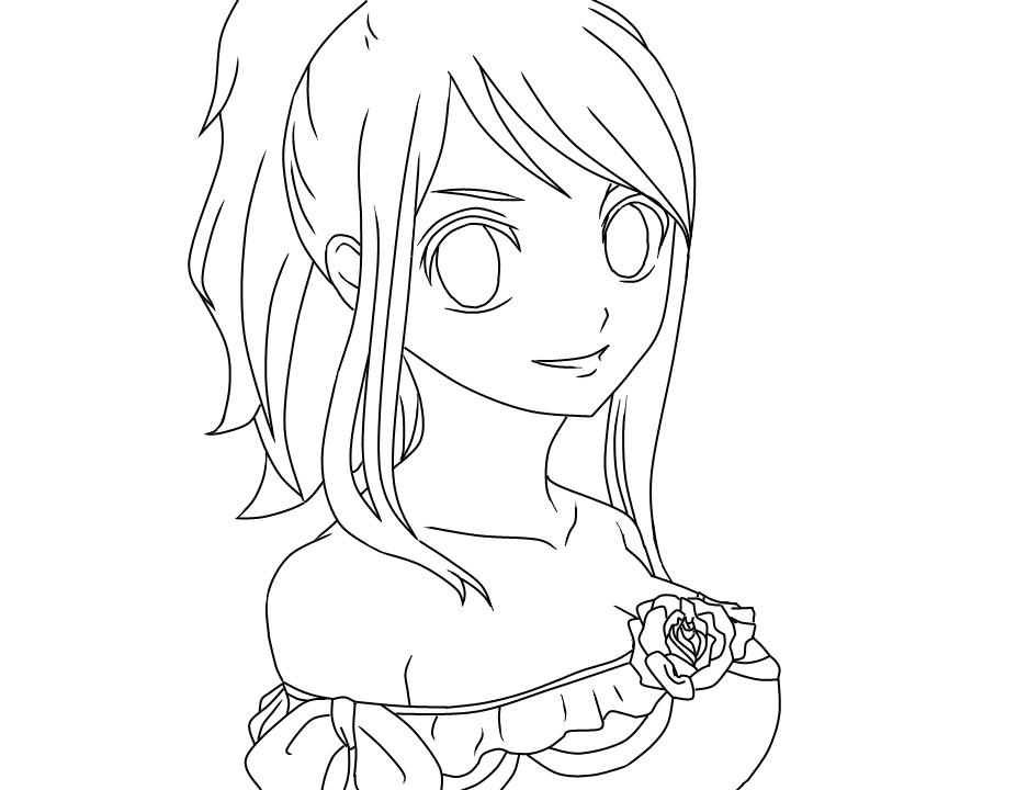 Lucy Heartfilia Line art by SerenitySerenaLunae on DeviantArt