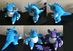 Shiny Nidoking Pokemon Plush! 13'' Arms Bend!